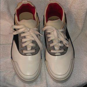 Red white blue Christian Louboutins